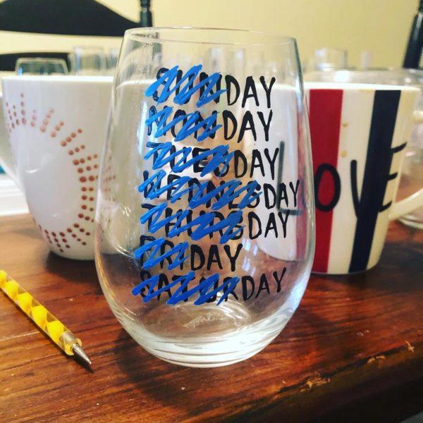 Mason Jar Day navy blue