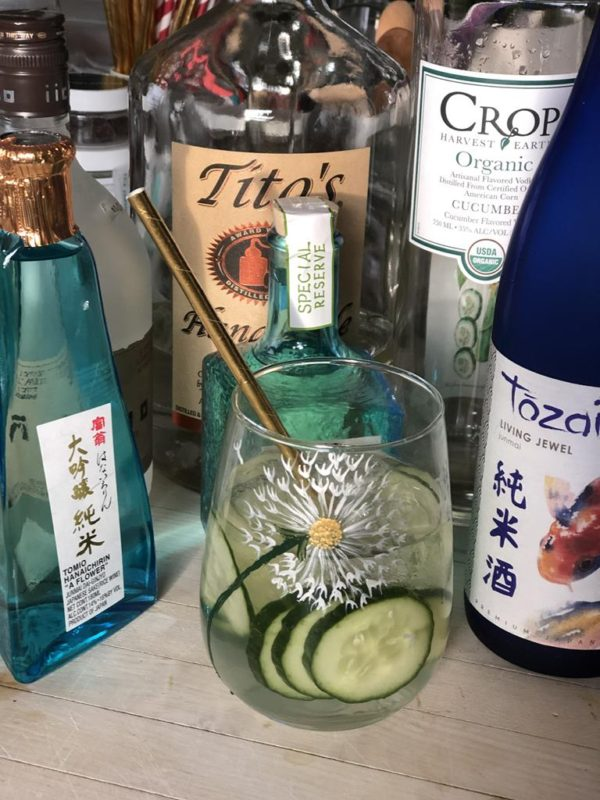 Stemless wine glass 21 ounce dandelion