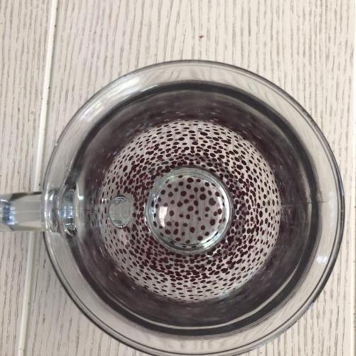 Clear Mug Heavy Standard Confetti Red