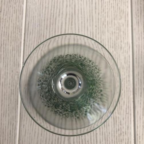 Martini Glass Standard confetti green