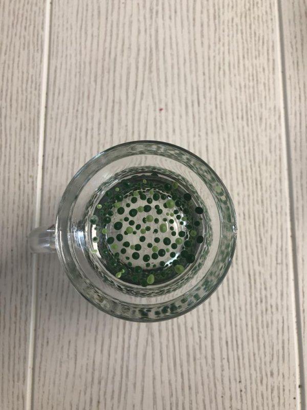 Clear Mug Heavy Standard confetti green