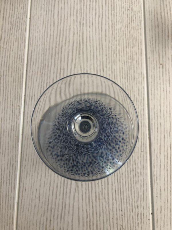 Martini Glass Standard confetti navy blue