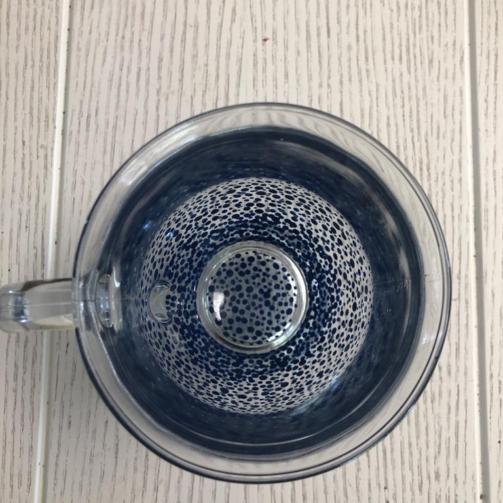 Clear Mug Heavy Standard confetti navy blue