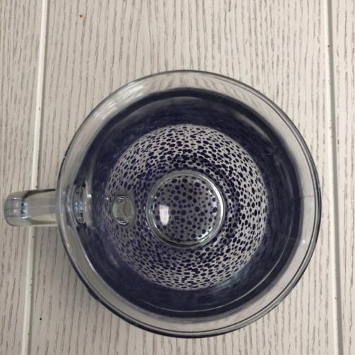 Clear Mug Heavy Standard confetti purple