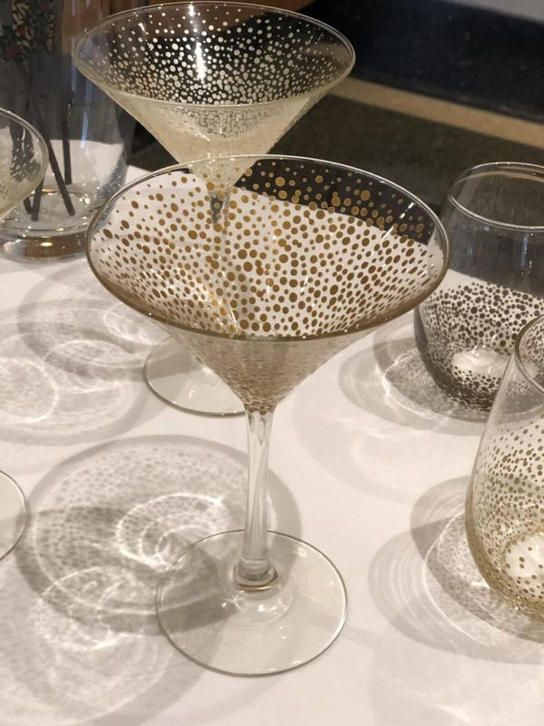 Martini Glass Standard confetti rose gold